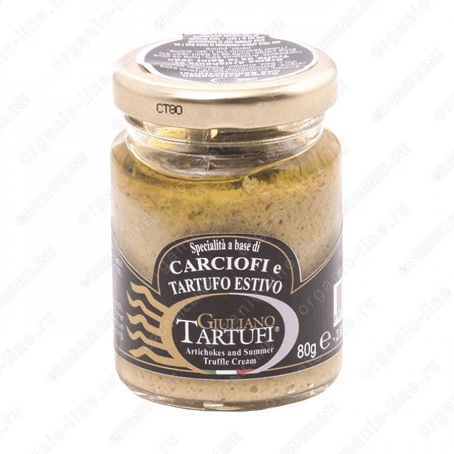 """Соус из артишоков с черным трюфелем """"Specialita a base di carciofi e tartufo estivo"""" 80 г Giuliano Tartufi"""