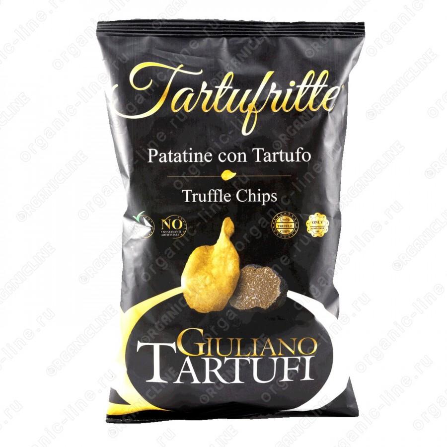 Чипсы картофельные с черным трюфелем 100 г Giuliano Tartufi