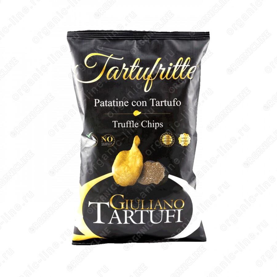 Чипсы картофельные с черным трюфелем 45 г Giuliano Tartufi