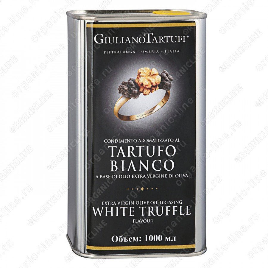 Масло оливковое extra vergine с белым трюфелем 1 л (ж/б) Giuliano Tartufi