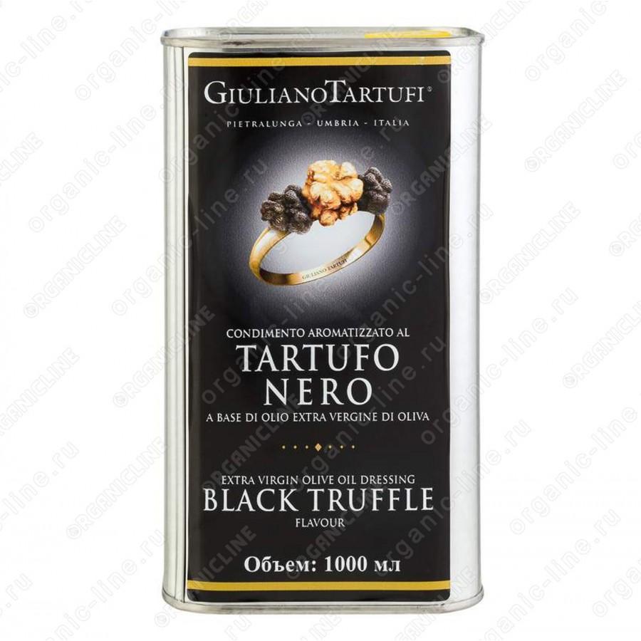 Масло оливковое extra vergine с черным трюфелем 1 л (ж/б) Giuliano Tartufi