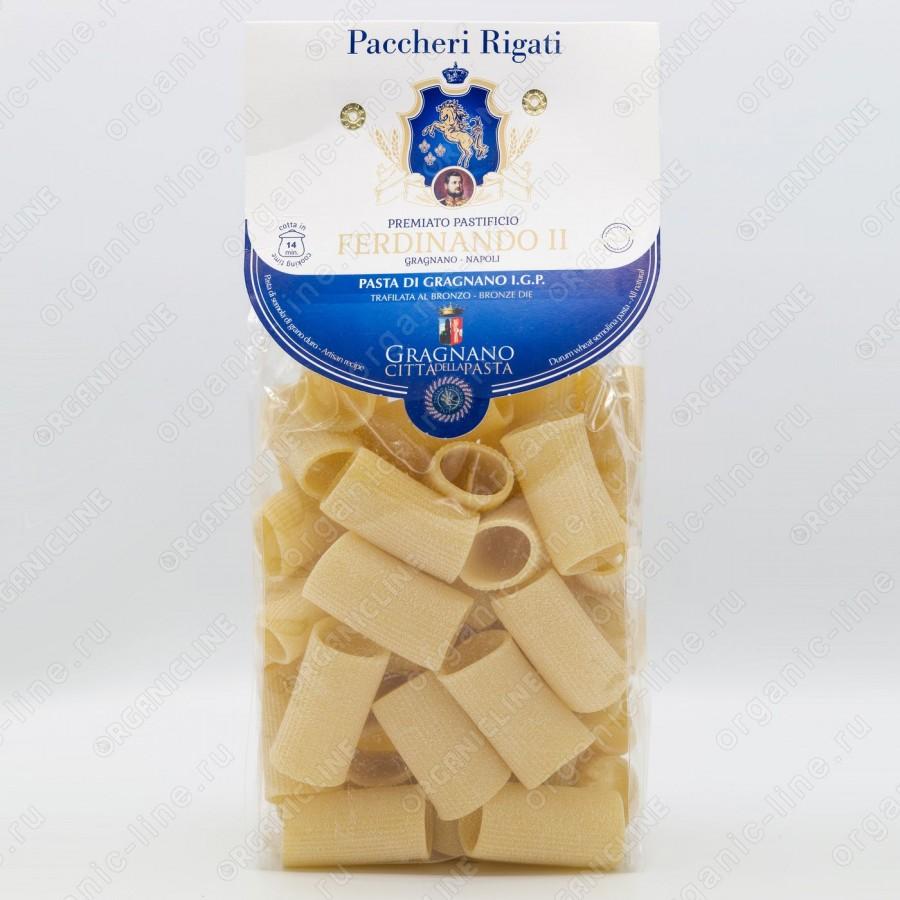Паста Паккери Ригати 500 г IGP Gragnano Ferdinando II