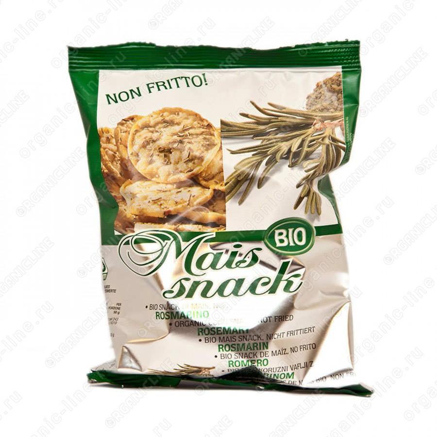 Кукурузные мини-хлебцы с розмарином 50 г, Без Глютена, БИО, Веган