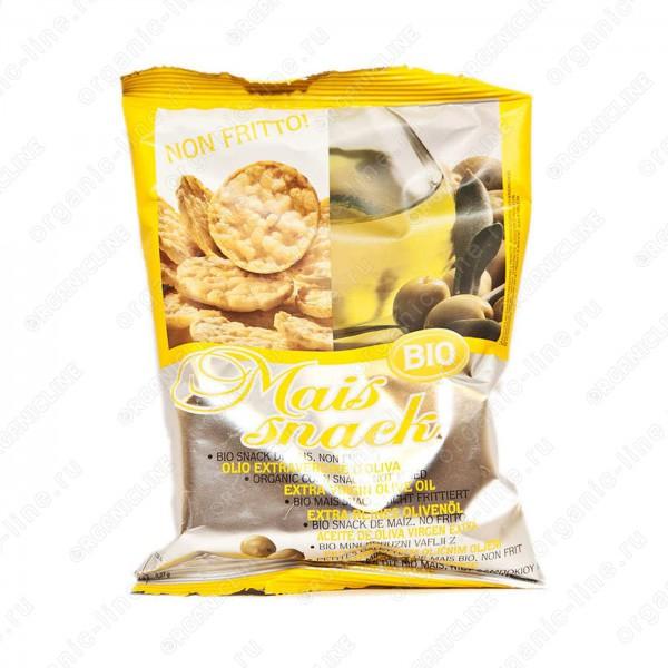 Кукурузные мини-хлебцы с оливковым маслом экстраверджине 50 г, Без Глютена, БИО, Веган