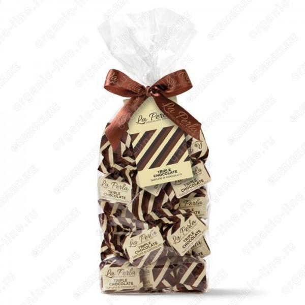 Трюфель Тройной шоколад Без Глютена La Perla 200 г