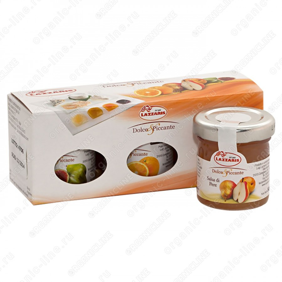 """Набор из трех соусов фруктовых (груша, инжир, апельсин) """"Tris salse dolce e piccante"""" 150 г Lazzaris"""