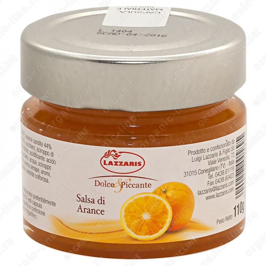 """Соус фруктовый из апельсинов """"Salsa di arance"""" 110 г Lazzaris"""
