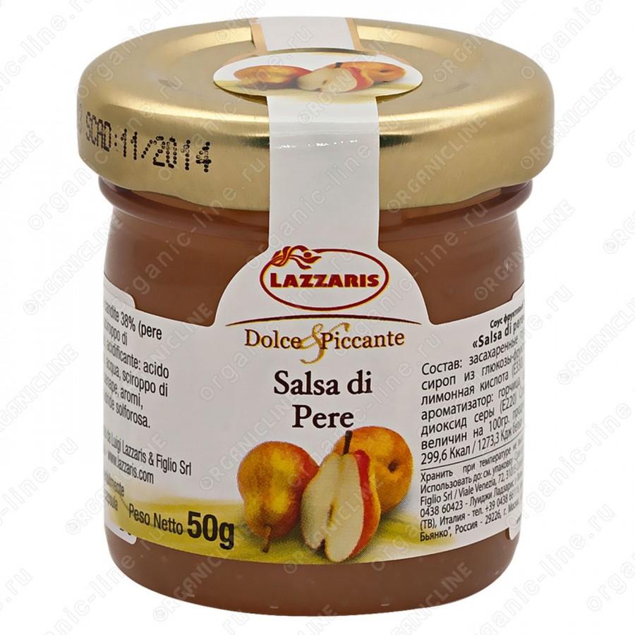 """Соус фруктовый из груши """"Salsa di pere"""" 50 г Lazzaris"""