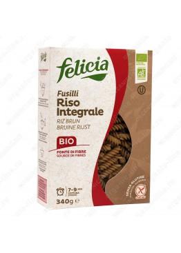 Паста из коричневого цельнозернового риса Фузилли 340 г