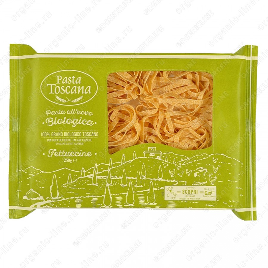 Паста содержащая яйца Феттучине BIO 250 г Pasta Toscana