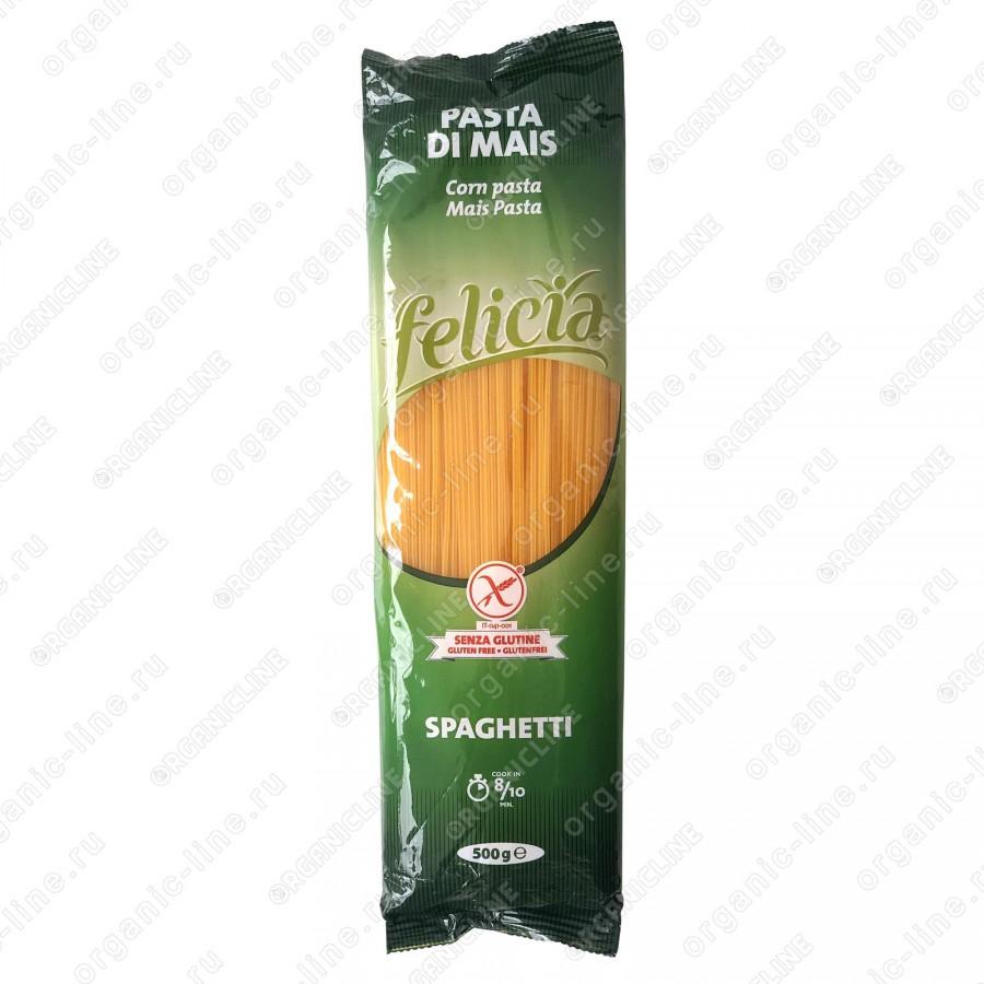 Паста диетическая из кукурузы Спагетти 500 г, Без Глютена