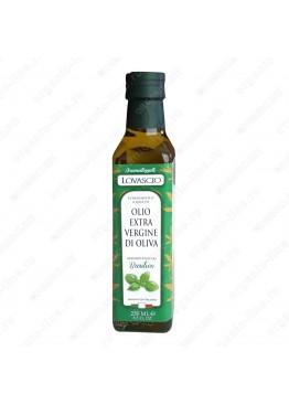 Масло оливковое э/в с Базиликом 100% Итальяно 250 мл Lovascio