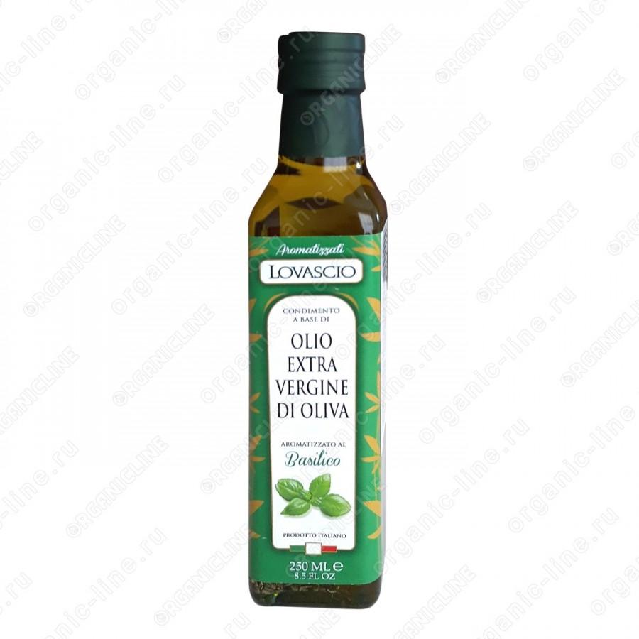 Масло оливковое э/в с Базиликом 250 мл Lovascio