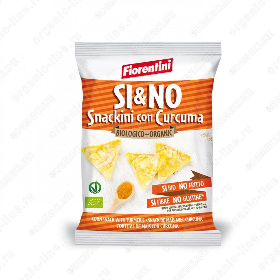 Кукурузные хлебцы-мини с куркумой 20 г Fiorentini БИО, Без Глютена, Веган, Италия