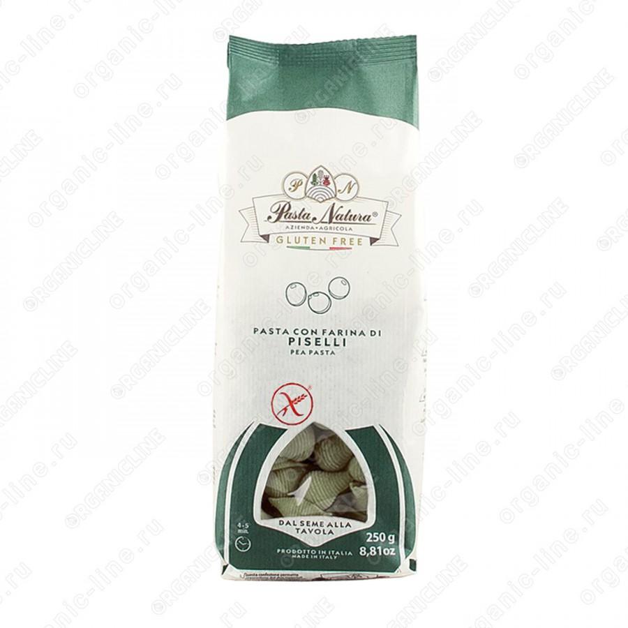 Макароны из зелёного горошка Конкилье 250 г Pasta Natura Италия, Без Глютена, Веган