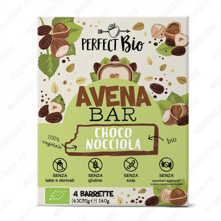 Энергетический батончик с шоколадом и фундуком 140 г Perfect Bio Италия, БИО, Без Глютена, Веган
