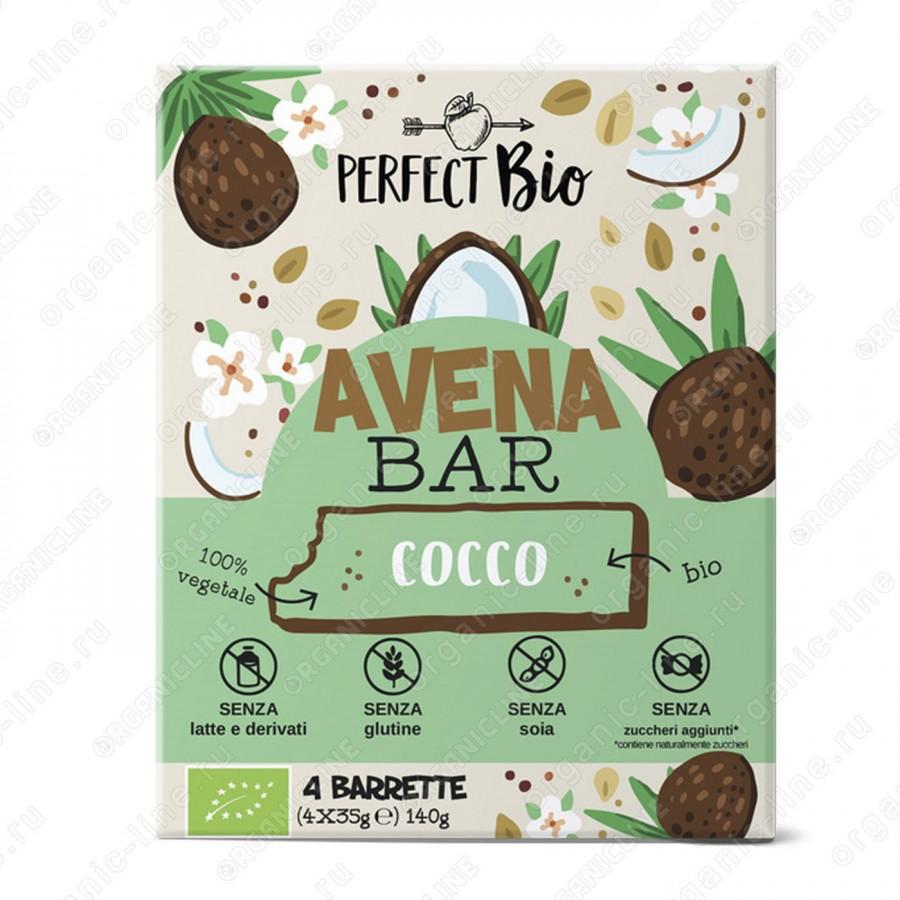 Энергетический батончик с кокосом 140 г Perfect Bio Италия, БИО, Без Глютена, Веган