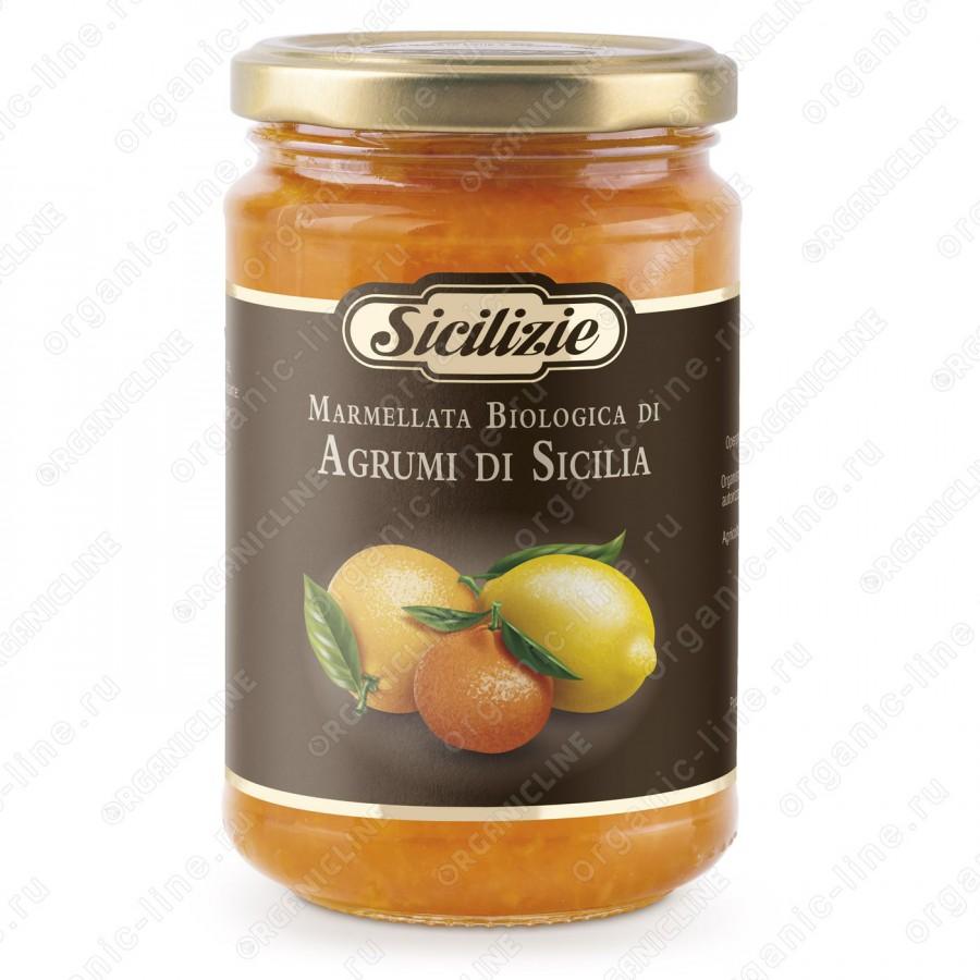 Конфитюр из апельсина, лимона и мандарина БИО 360 г Sicilizie Италия, БИО