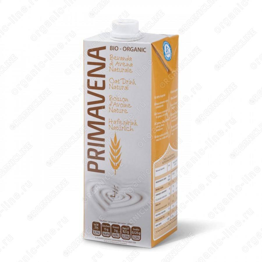 Овсяное молоко 1 л Primavena Италия, БИО, Веган