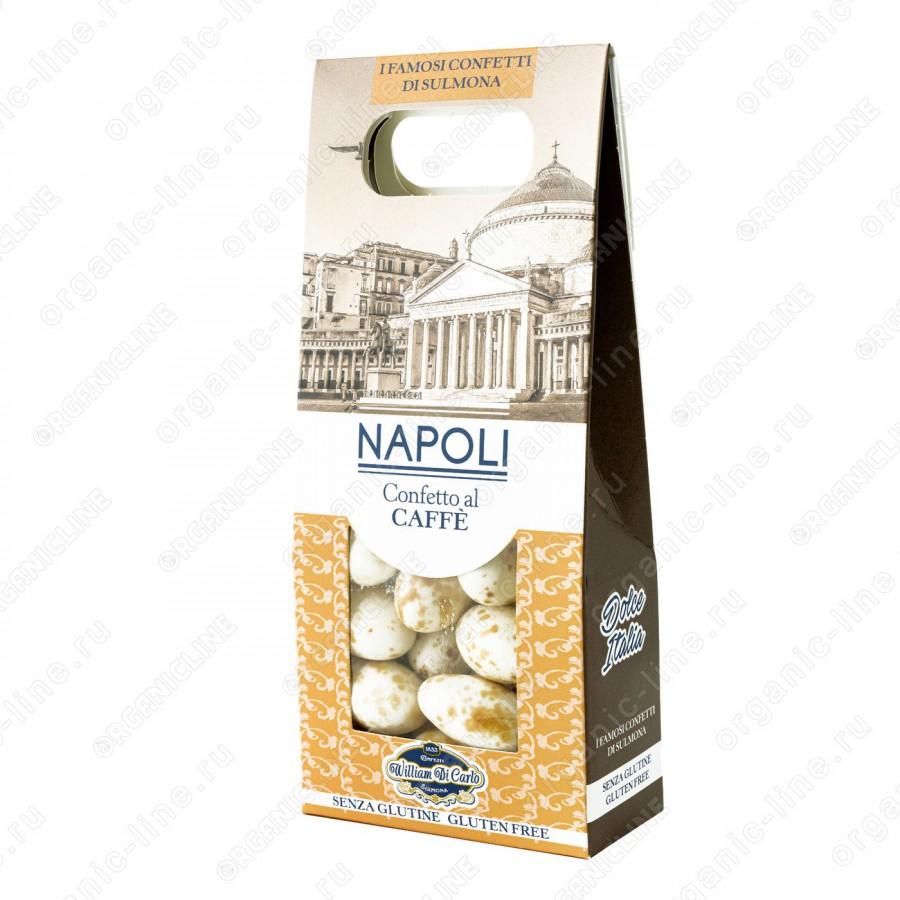 Драже вкус кофе Неаполь 100 г Willam di Carlo Италия, Без Глютена
