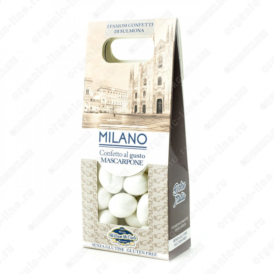 Драже вкус маскарпоне Милан 100 г Willam di Carlo Италия, Без Глютена