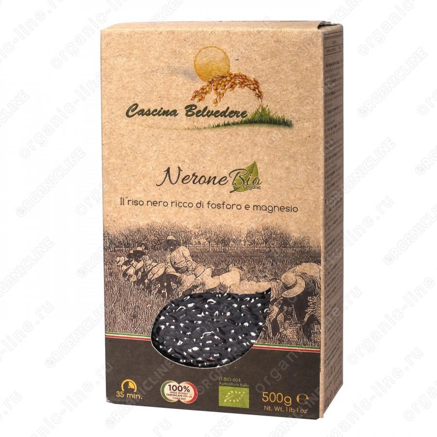 Рис черный Нероне 500 г, Органик Cascina Belvedere Без глютена, БИО, Веган, Италия