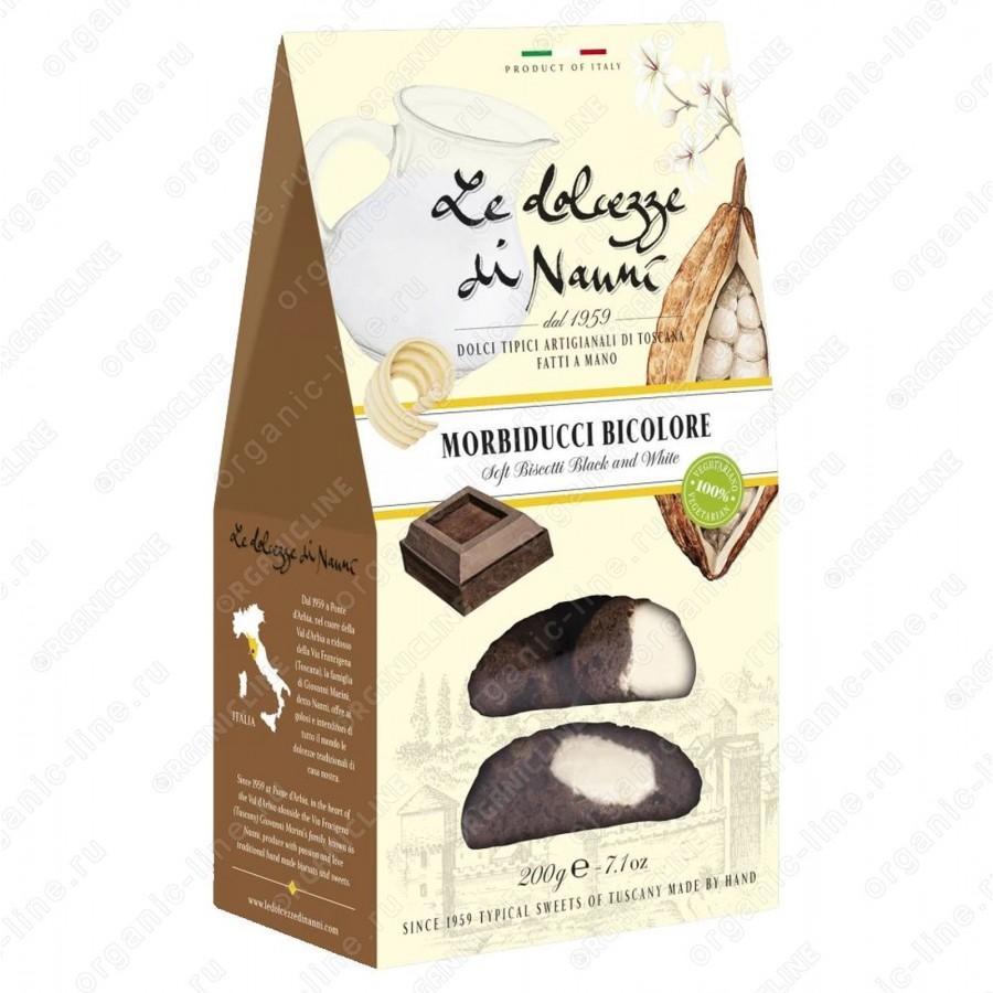 Мини Кантуччи мягкие двойной шоколад 200 г Веган le Dolcezze di Nanni