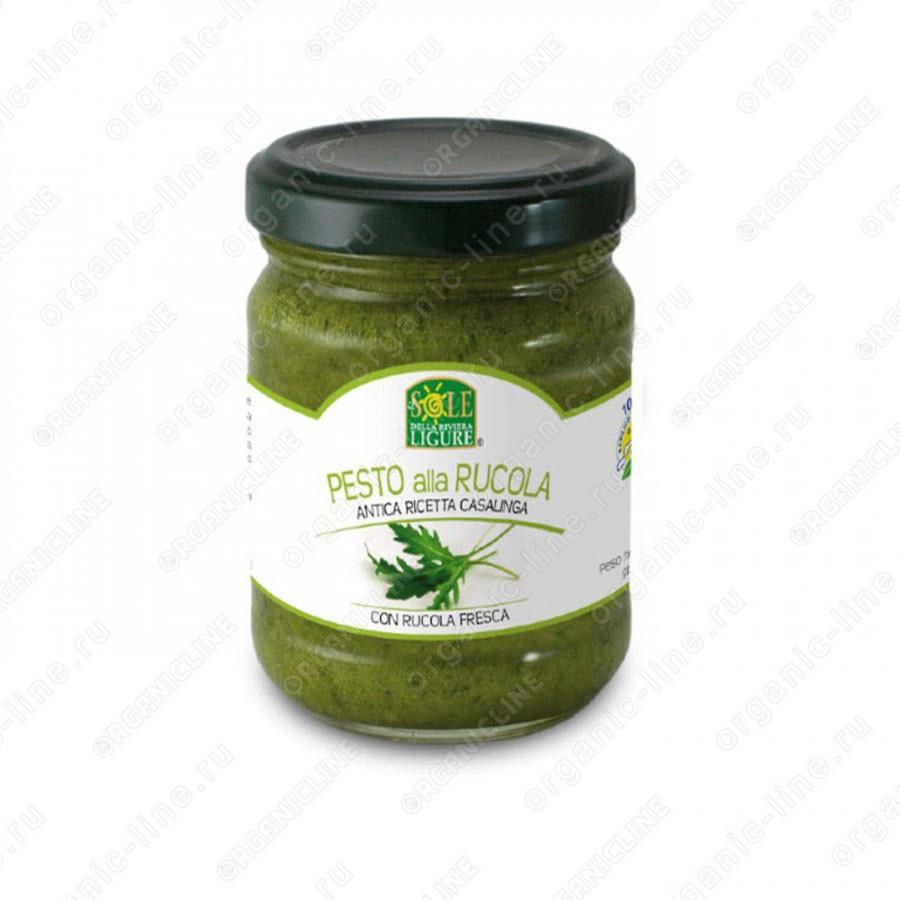 Соус песто дженовезе со свежей рукколой в оливковом масле 130 г, Без Глютена