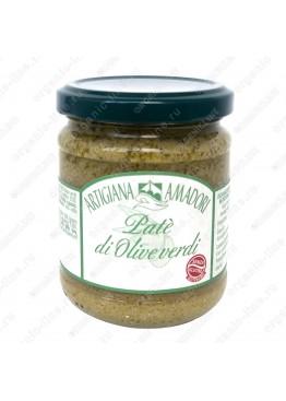 Крем паста по-генуэзски из зеленых оливок 190 г