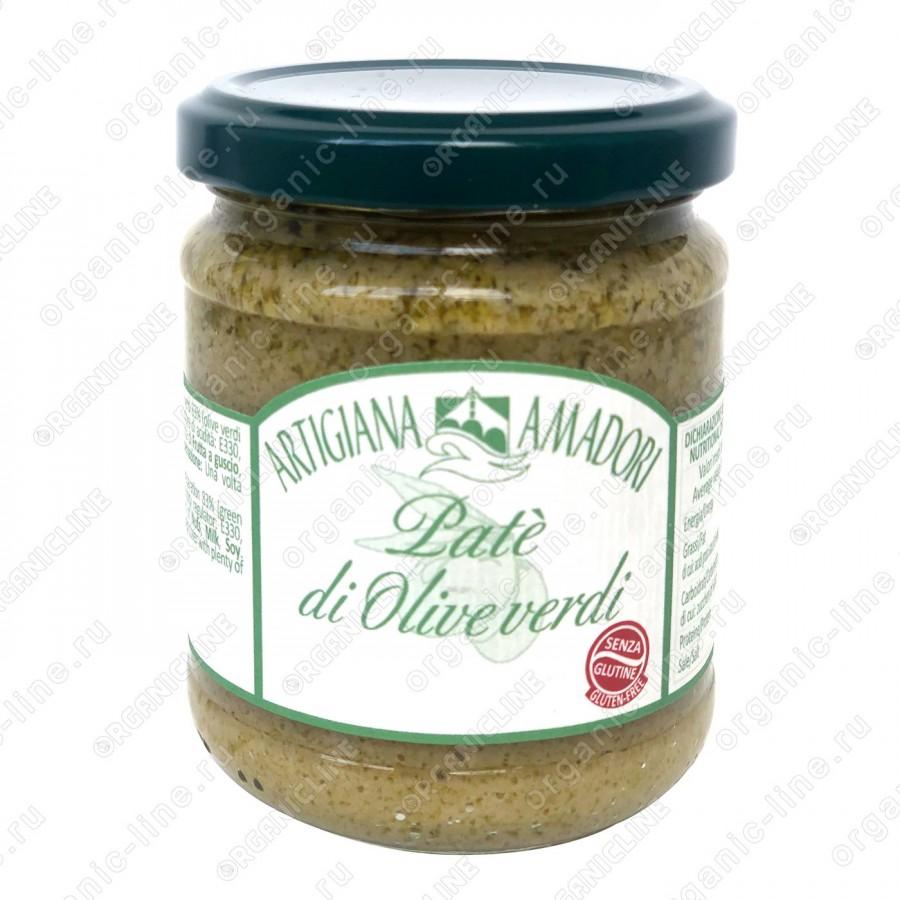 Крем паста по-генуэзски из зеленых оливок 190 г, Без Глютена