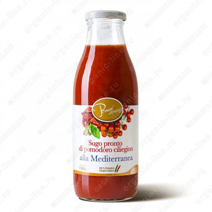 """Томатный соус """"Средиземноморский"""" из сицилийских помидоров черри 500 г, Без Глютена"""