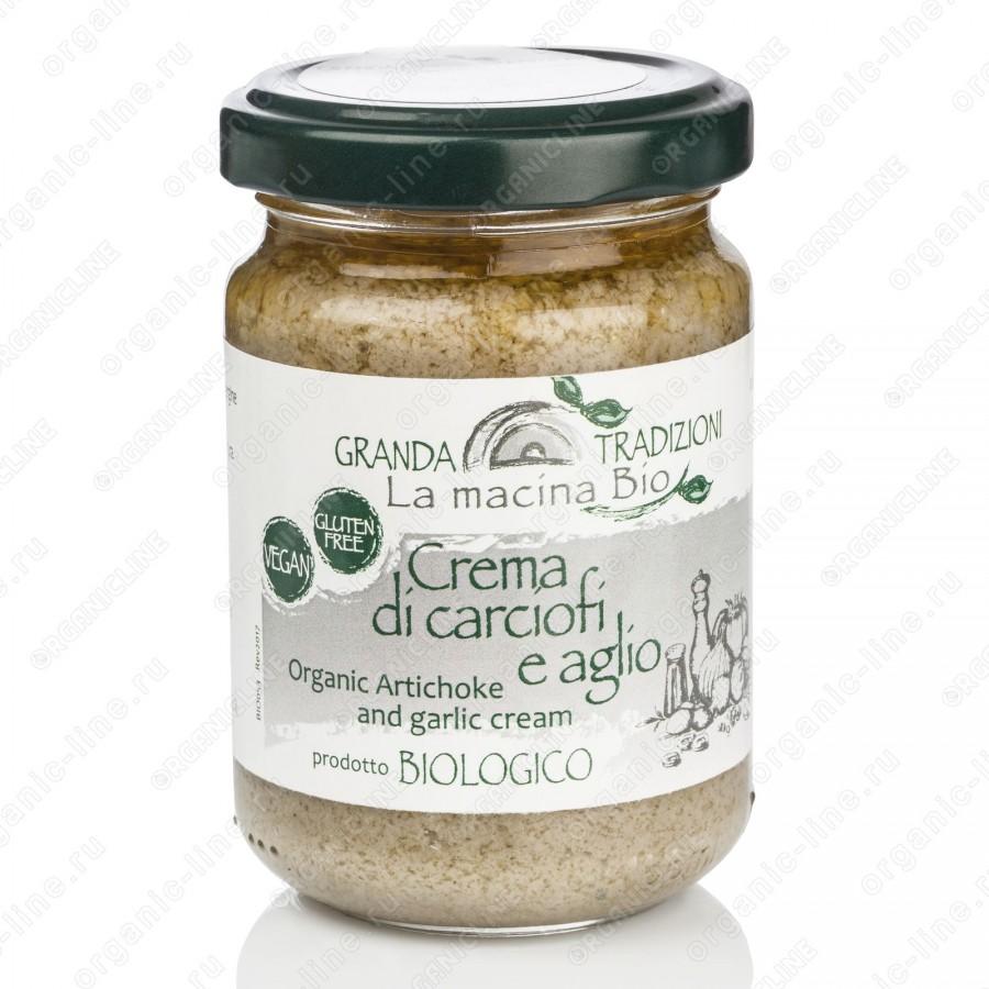 Соус-крем из Артишоков с Чесноком 130 г La Macina BIO